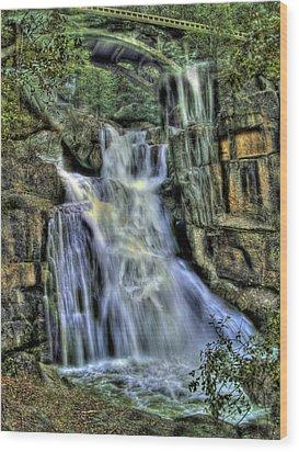 Emerald Cascade Wood Print by Bill Gallagher