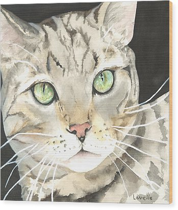 Emerald Eyes Wood Print by Kimberly Lavelle