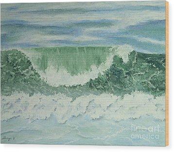 Emerald Green Wood Print by Stanza Widen