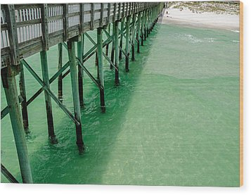 Wood Print featuring the photograph Emerald Green Tide  by Susan  McMenamin