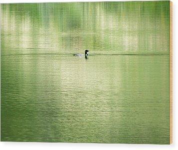 Emerald Water Wood Print by Ramona Johnston