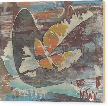'emerge' Wood Print