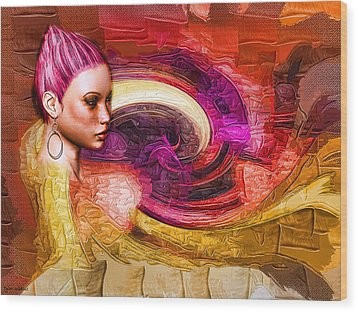 Wood Print featuring the mixed media Emergence by Tyler Robbins