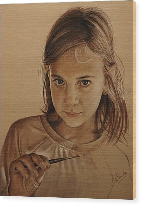 Emerging Young Artist Wood Print