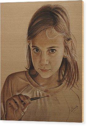 Emerging Young Artist Wood Print by Glenn Beasley