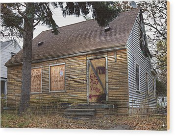 Eminem's Childhood Home Taken On November 11 2013 Wood Print by Nicholas  Grunas