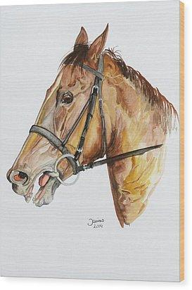 Emir The Horse Wood Print by Janina  Suuronen