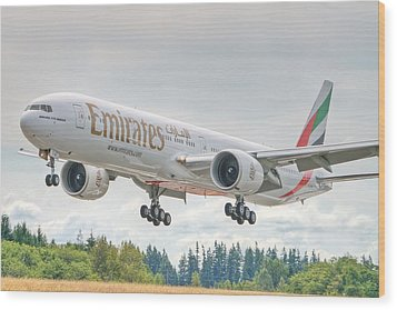 Emirates 777 Wood Print