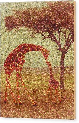Emma's Giraffe Wood Print by Jack Zulli