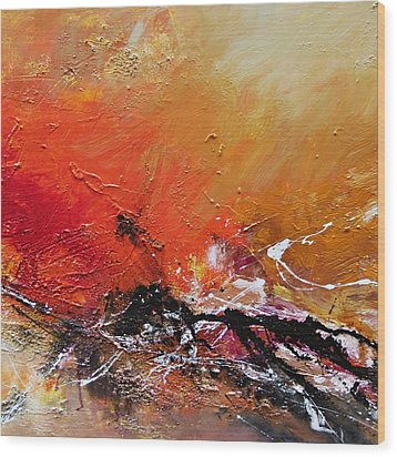 Wood Print featuring the painting Emotion 2 by Ismeta Gruenwald