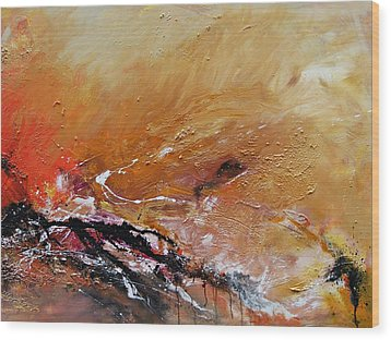 Wood Print featuring the painting Emotion  by Ismeta Gruenwald