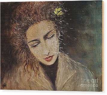 Wood Print featuring the painting Emotions... by Cristina Mihailescu
