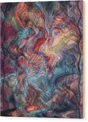 Empathic Psychic Wood Print by Linda Sannuti