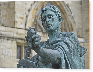 Emperor Constantine Wood Print by Ross G Strachan