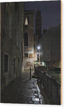 Empire Of Venetian Light Wood Print by Marion Galt