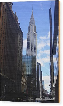 Empire State Wood Print by Brittany Perez