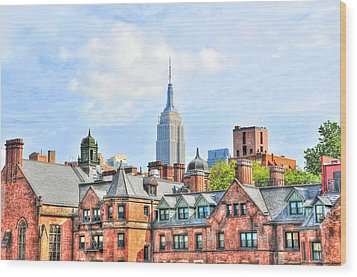 Empire State Building From The High Line Wood Print by Randy Aveille