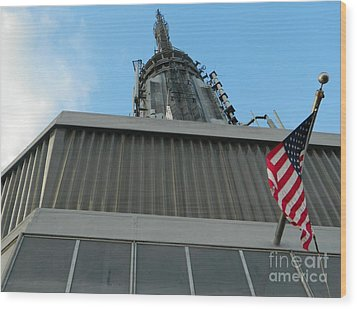 Empire State Building Point Of View Wood Print by Emmy Marie Vickers