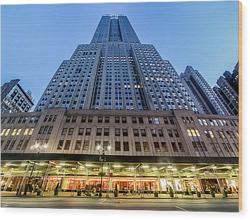 Wood Print featuring the photograph Empire State Building by Steve Zimic