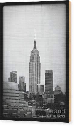 Empire State Wood Print by Paul Cammarata