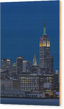 Empire State Wood Print by Susan Candelario