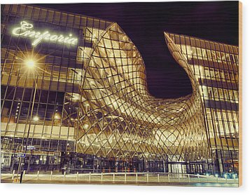 Emporia By Night Wood Print