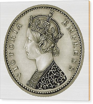 Silver Empress Victoria Wood Print by Fred Larucci