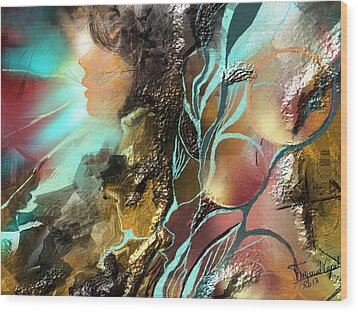 Emprise Wood Print by Francoise Dugourd-Caput
