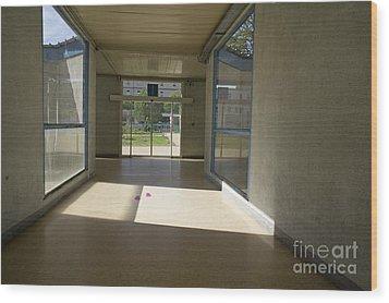 Empty Corridor At Public Hospital Wood Print by Sami Sarkis