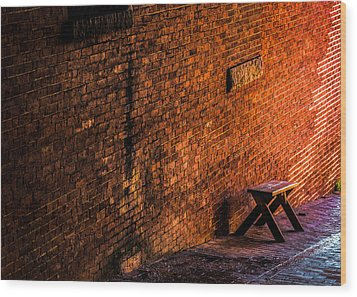 Empty Seat On A Hill Wood Print by Bob Orsillo