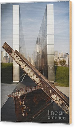 Empty Sky New Jersey September 11th Memorial Wood Print by George Oze