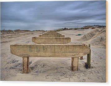 Empty Support Wood Print by Mike Horvath