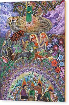 Encanto Rumi  Wood Print by Pablo Amaringo