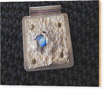 Encased Blue Stone Wood Print