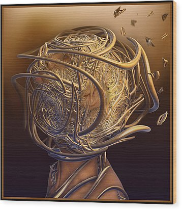 Encased In Thoughts Wood Print by Melissa Messick