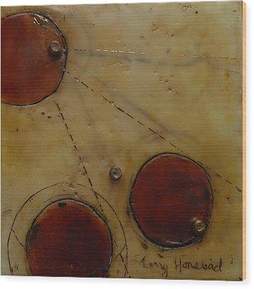 Encaustic #2 Wood Print by Terry Honstead