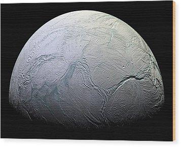 Enceladus Wood Print by Adam Romanowicz