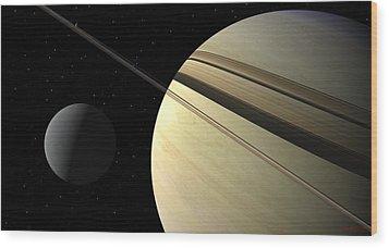 Enceladus Wood Print