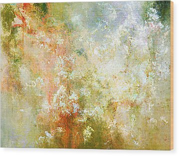 Enchanted Blossoms - Abstract Art Wood Print by Jaison Cianelli