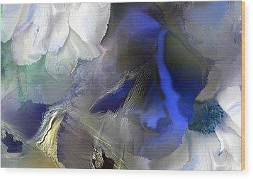 Enchanted Blues Wood Print