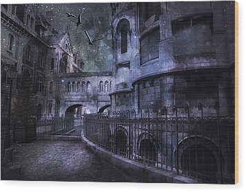 Enchanted Castle Wood Print by Evie Carrier