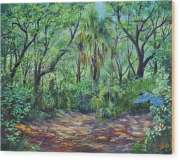 Enchanted Clearing Wood Print by AnnaJo Vahle