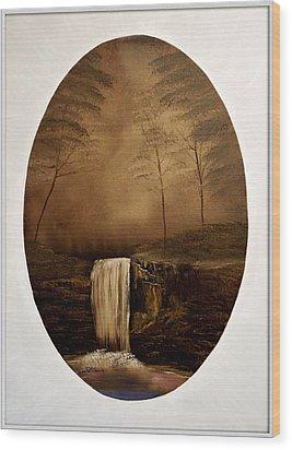 Enchanted Falls Wood Print by Joyce Krenson