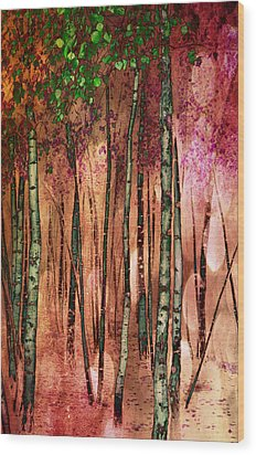 Enchanted Forest Wood Print by Stephen Norris