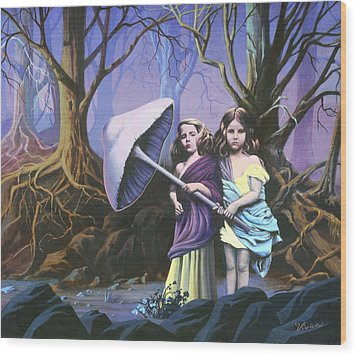 Enchanted Forest Wood Print by Vivien Rhyan
