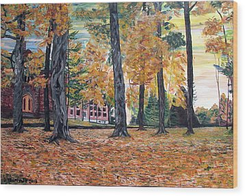 Enchanted Forrest In The Fall Wood Print by Denny Morreale