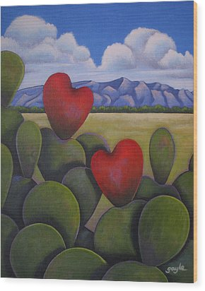 Enchanted Hearts Wood Print