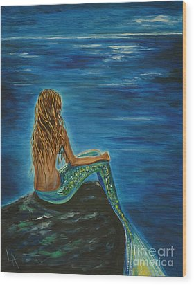 Enchanted Mermaid Beauty Wood Print