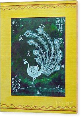 Enchanted Night II Wood Print by Anjali Vaidya