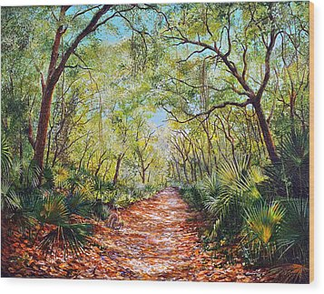 Enchanted Path Wood Print by AnnaJo Vahle
